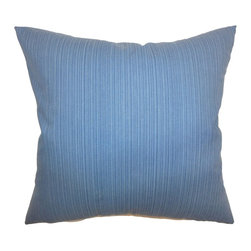"""The Pillow Collection - Nessia Plain Pillow Blue 18"""" x 18"""" - Bring in a refreshing detail to your home with this accent pillow. This throw pillow is fantastic when paired with different patterns like florals, stripes, ikats and more. The blue hue of this square pillow looks great when placed on stand alone chairs, beds, sectionals and more. This 18"""" pillow is made from 100% durable and high-quality soft cotton fabric. Hidden zipper closure for easy cover removal.  Knife edge finish on all four sides.  Reversible pillow with the same fabric on the back side.  Spot cleaning suggested."""