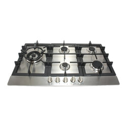 "Cosmo Kitchen - Cosmo 34"" Stainless Steel Cooktop with 5 Burners. - This product is a quality/price benchmark for Italian designed kitchen and bathroom products, bringing you the benefits of styling, manufacturing and performance excellence as cost-effectively as possible. Let gas cooking help you create meals like a professional chef in your own home. Designed to perform as well as it looks, this gas cook top features 5 gas burners which allow you to cook from a high heat for boiling, frying or searing to a low simmer for the most delicate sauces. Also gives you the precise control demanded by serious cooks."
