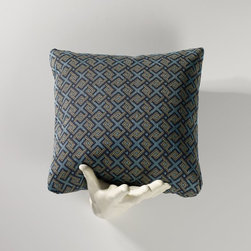 Homeware - Homeware Aegean Accent Pillows - Set of 2 - HWP011-18-122AEG - Shop for Pillows from Hayneedle.com! We present to you sumptuous living Greek style in Homeware Aegean Accent Pillows - Set of 2. Cool sultry fabric is richly woven in navy blues and tans. The imperial interlocking squares can go with neo-classical or modern pieces. Not available for sale in or delivery to the state of California.About HomewareHomeware is driven by an innovative spirit and a passion to change the way America buys and lives with furniture. Homeware wants to save you from shopping in a big box bringing home a smaller box and ultimately being psychologically harmed by your encounter with a slew of parts and incomprehensible assembly instructions. Instead of that Homeware supports your choice to shop in your jammies and Homeware is determined to support your success. Homeware chairs are made to live and move with you. They come to you in two pieces within two special boxes and regardless how rudimentary your handyman skills may be YOU can assemble them without tools. Within minutes they assure you you will be enjoying a chair that's as sturdy and solid as any you've beheld. The secret? It's designer and engineer Jon Koch's ingenious and revolutionary fastening device which makes possible speedy chair assembly by the mechanically uninitiated. Homeware keeps a stable of furniture savants on call 24-7 to answer your questions including but not limited to questions about their chairs and pillows and they stand behind their products with bravado.