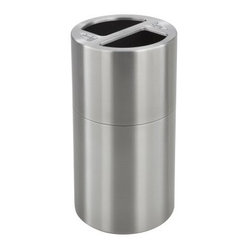 Safco Dual Recycling Receptacle Trash Can