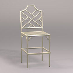 Chinese Chippendale Counter Stool - This Chinese Chippendale counter stool comes in lots of great colors and would be the focal point of your kitchen.