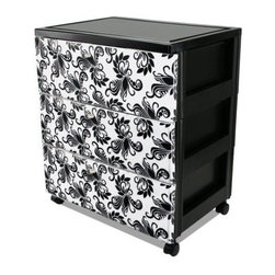 IRIS USA, Inc. - Premium 3-Drawer Wide Chest - Add versatile storage to any space in the home or office with an Premium Top Three-Drawer Storage Chest. Ideal for organizing toys in a children's room, clothing in the dorm or supplies in the office. Each drawer has Florentine inner graphics that are easily removable for customization.