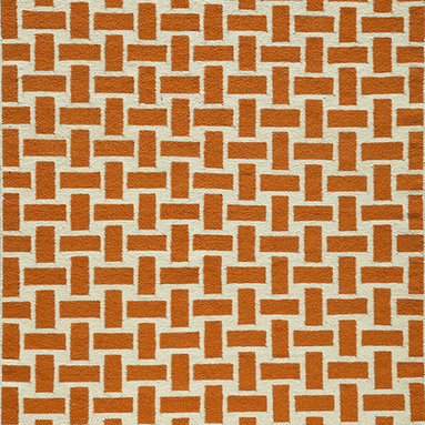 """Laguna LG-02 Orange Rug - 2'3""""x8' - Geometric patterns, vibrant colors and chic simplicity all collaborate to make the flat-weave Dhurry collection, Laguna. Made in India of 100% wool, Laguna utilizes a vibrant color palette that plays off geometric patterns often found in paving stones, basket weaves and nature."""