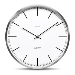 LEFF Amsterdam - LEFF Amsterdam Wall Clock One // Stainless Steel - The design of the one clocks is instantly classic; an iconic design recognized for its timelessness, quality and durability. The brushed stainless steel case combined with the back cover makes this clock feel solid and reliable. Inside, a precise Japanese movement will indicate the right time.
