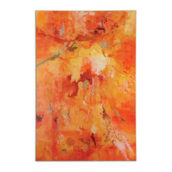 Uttermost - Uttermost 34282  Radiant Sun Modern Art - Bursting with color, this hand painted artwork is on canvas that is stretched and attached to wooden stretching bars. due to the handcrafted nature of this artwork, each piece may have subtle differences.