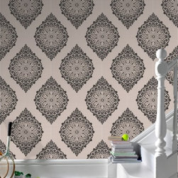 Kelly Hoppen Tattoo - Wallpaper is a great way to add contrast or personality to a home. Mixing a fun print against older architectural elements in a home, for instance, creates an amazing effect.