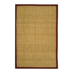 Safavieh - Safavieh Natural Fiber Casual Rug X-8-D411FN - Hand-woven with natural sea grass, this casual area rug is innately soft and durable. This densely woven rug will add a warm accent and feel to any home. The 100-percent Cotton canvas backing adds durability.