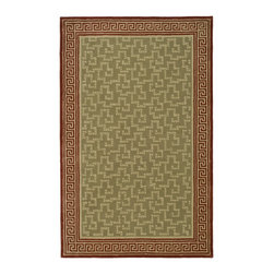 Martha Stewart - Martha Stewart Byzantium Sealing Wax Wool Rug (9'x 12') - Byzantium,with an intricate Greek Key border framing a center of subtle squares,is a completely new approach to the classic area rug.