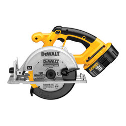 "Dewalt - 6-1/2In Circular Saw 18V - High strength magnesium shoe and upper guard provides increased durability for long term cut accuracy, bevel capacity provides additional capacity for a multitude of applications, fan cooled motor with replaceable brushes for maximum power and durability,   extended run time batteries provide long run time and battery life. Specs: 18V, 6-1/2"" blade diameter, 5/8"" arbor, no load speed 3,700RPM, bevel capacity 0-50 degrees, depth of cut at: 90 degrees- 2-1/4"", 45 degrees-1-5/8"", weighs 8.7lbs. Includes: (1) o  ne hour charger, (1) 18V XRP battery, carbide tipped blade, blade wrench, kit box.      This item cannot be shipped to APO/FPO addresses.  Please accept our apologies"