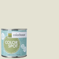 ColorSpot Eggshell Interior Paint Sample, Bisque .03, 8-oz - Test color before you paint with the Colorhouse Colorspot 8-oz  paint sample. Made with real paint and in our most popular eggshell finish, Colorhouse paints are 100% acrylic with NO VOCs (volatile organic compounds), NO toxic fumes/HAPs-free, NO reproductive toxins, and NO chemical solvents. Our artist-crafted colors are designed to be easy backdrops for living.