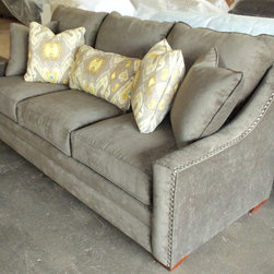 2014 Customer Custom Orders - Craftmaster 7335 Sofa at Barnett Furniture in Trussville / Birmingham, AL.  You Choose the Fabric.