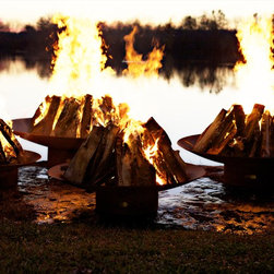 Fire Pit Art - Asia Wood Burning Firepit - This Asian inspired piece is hand crafted by a talented artisan in Tennessee.  This is one of the most popular because of the size options.  Each one is made to order so you know that you have a one of a kind work of art.
