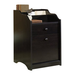 Sauder - Sauder Edge Water File Cabinet in Estate Black - Sauder - Filing Cabinets - 408699 - Sure lots of office and home furnishing manufacturers can help you create an organized comfortable and fashionable place to live. But Sauder provides a special kind of furniture that is practical and affordable as well as attractive and enduring. As North America's leading producer of ready-to-assemble furniture we offer more than 500 items that have won national design awards and generated thousands of letters of gratitude from satisfied consumers.