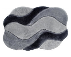 "Grund - Grund Designer Bathroom Comfort Mats-Carmen Series-Medium-Grey - Lively and unique!  The Carmen Series offers your bathroom a touch of whimsy design and eligant color all at the same time!  Hand made.  Comes in three colors and is available in two sizes: 24"" X 36"" medium, 24"" X 60"" large."