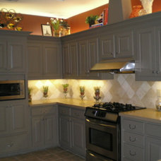 old and dated cabnets redo with great results - Kitchen Designs - Decorating Ide