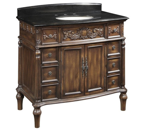 EuroLux Home - New Single Sink Vanity Black Victorian - Product Details