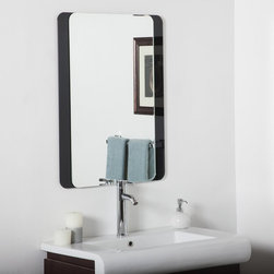 Decor Wonderland - Skel Bathroom Wall Mirror - 24W x 32H in. Multicolor - SSM497B - Shop for Bathroom Mirrors from Hayneedle.com! The frameless Skel Bathroom Wall Mirror - 24W x 32H in. features a layered design with polished edges rounded corners and a high-gloss black border that gives your lavatory a modern touch. This is a fine piece for the living room hallway or entryway as well and it boasts an invisible mounting system that keeps the top and bottom of the mirror flush against the wall for a seamless presentation. And speaking of presentation the Skel Bathroom Wall Mirror can be mounted vertically and horizontally.About Decor Wonderland of USDecor Wonderland US sells a variety of living room and bedroom furniture mirrors lamps home office necessities and decorative accessories. Decor Wonderland strives to add variety to their selection so that every home is beautifully and perfectly decorated to suit their customer's unique tastes.