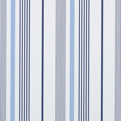 Gable Stripe Wallpaper, French Blue