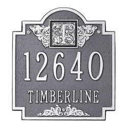 Monogram Standard Address Plaque - Create a lasting first impression with this attractive monogrammed address plaque. Made from durable, rust-free aluminum and weather resistant paint, this is a small investment that will have a big impact.