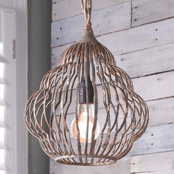 Small Old Fashioned Beehive Style Pendant -