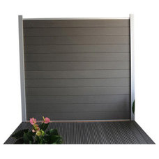 Lame en composite Kyoto, coloris Gris anthracite 15x176 cm | Leroy Merlin