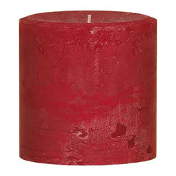 """Oddity - Oddity 4""""x 4"""" Weathered Pillar Candle - Apple Spice - The wider width of these weathered pillar candles make a statement when standing alone or grouped with other sized candles. The colors and scents of our 4"""" x 4"""" pillars perfectly match our original 3"""" candles so you can coordinate your homes decor."""