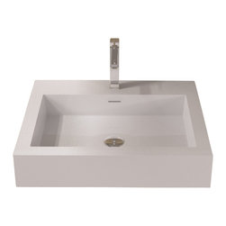 ADM - Solid Surface Stone Resin Wall Hung Sink, Glossy - DW-133