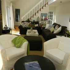 Eclectic Living Room by Lillian C Morea Interiors, LLC