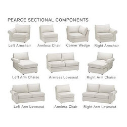 Pearce Upholstered Right-Arm Love Seat Sleeper, Down-Blend Wrap Cushions, Velvet - The exceptional versatility of our Pearce Collection lets you create an intimate conversation area or expansive seating. Distinguished by its generous rolled arms and welted seams, these sectional components have a luxurious feel. {{link path='pages/popups/pearce-pdf-fd3-p3.html' class='popup' width='720' height='800'}}View the dimension diagram for more information{{/link}}. {{link path='pages/popups/pearce-pdf-fd3-p5.html' class='popup' width='720' height='800'}}The fit & measuring guide should be read prior to placing your order{{/link}}. Extra-deep hypoallergenic down-blend-wrapped cushions have an extra-thick foam core. Proudly made in America, {{link path='/stylehouse/videos/videos/pbq_v36_rel.html?cm_sp=Video_PIP-_-PBQUALITY-_-SUTTER_STREET' class='popup' width='950' height='300'}}view video{{/link}}. For shipping and return information, click on the shipping tab. When making your selection, see the Quick Ship and Special Order fabrics below. Additional fabrics not shown below {{link path='pages/popups/pearce-pdf-fd3-p6.html' class='popup' width='720' height='800'}}can be seen here{{/link}}. Please call 1.888.779.5176 to place your order for these additional fabrics.