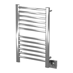 Amba - Ladder 21x33 Electric Heated Towel Warmer, Polished - • Dual-purpose radiator functions as towel warmer and space heater