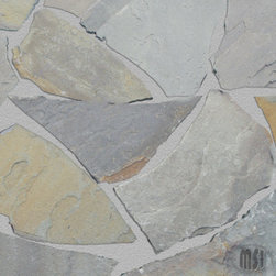Pennsylvania Bluestone Random Flagstones - Pennysylvania Bluestone is random flagstone that features with its natural rich rusts, blue and charcoal grays. This durable slab quartzite is recommended for interior and exterior projects including flooring, landscaping, countertops and walls.