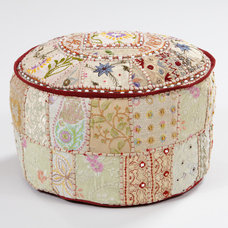 Eclectic Ottomans And Cubes by Cost Plus World Market