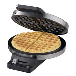 Cuisinart - Cuisinart Round Classic Waffle Maker - Sometimes a waffle is the only thing that will satisfy your breakfast craving, so you need a waffle maker that you can depend on in a pinch. This round, classic waffle maker features a five-setting browning control, red and green indicator lights, nonstick baking plates and a regulating thermostat to make breakfast a breeze.