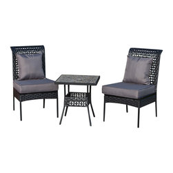 "Fire Sense - Fire Sense 61470 Havasu All Weather Wicker 3pc. Bistro Set - Our new Havasu Bistro Set includes two all weather wicker chairs and a 20""x20"" table with a natural river rock look top.  This lightweight yet durable bistro set is perfect for breakfasts in the morning or an afternoon tea for two.  The attractive mocha finish is the perfect accent for any patio.  Our bistro set can be used all year round and provides a maintenance free outdoor seating experience."