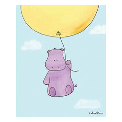 Oh How Cute Kids by Serena Bowman - Up Up and Away - Hippo, Ready To Hang Canvas Kid's Wall Decor, 8 X 10 - Each kid is unique in his/her own way, so why shouldn't their wall decor be as well! With our extensive selection of canvas wall art for kids, from princesses to spaceships, from cowboys to traveling girls, we'll help you find that perfect piece for your special one.  Or you can fill the entire room with our imaginative art; every canvas is part of a coordinated series, an easy way to provide a complete and unified look for any room.