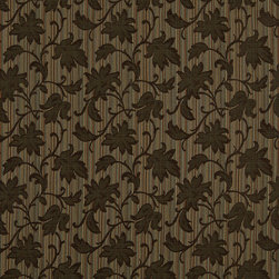 Brown Light Brown And Teal Floral Stripe Upholstery Jacquard Fabric By The Yard - This multipurpose fabric is great for residential upholstery, slipcovers and pillows. This material is woven for enhanced elegance, and will exceed 35,000 double rubs (15,000 is considered heavy duty)