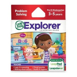 Leap Frog - LeapFrog Explorer Disney Doc McStuffins Learning Game - At Doc McStuffins Clinic for stuffed animals and toys, your child will hop on board Rescue Ronda to first pick up patients who need help, then meet the Doc and crew back at the clinic to help examine and diagnose boo-boos, and recommend treatments.
