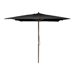 Jordan Manufacturing - Jordan Manufacturing 8.5 ft. Square Wooden Market Umbrella - UMPSQ853-BLK - Shop for Patio Umbrellas from Hayneedle.com! Bring some shade to your patio with the Jordan Manufacturing 8.5 ft. Square Market Umbrella. Crafted of spun polyester this umbrella is a perfect for accenting or totally reinventing any outdoor space. The umbrella can be easily maintained with a mild soap and water mixture.About Jordan Manufacturing A leader in the outdoor industry for over 29 years Jordan Manufacturing Company Inc. takes pride in the fact that quality and customer service have always been their top priorities. They realize that their commitment does not end with the sale. This is simply the starting point in a long-running relationship. Jordan believes the customer is the ultimate judge of their products and their customers have proven their loyalty since 1975.