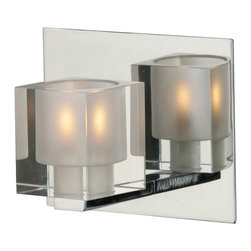 Should Bathroom Vanity Lights Go Up Or Down : ET2 Lighting - Blocs 1-Light Bath Vanity - Going solo: This single light sconce makes a stunning ...
