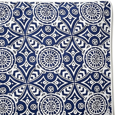 Catalina Designer Duvet Cover - I love blue and white! Seeing it on a duvet cover makes me think of beach houses and cottages.