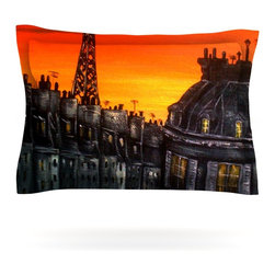 "Kess InHouse - Christen Treat ""Paris"" Pillow Sham (Cotton, 30"" x 20"") - Pairing your already chic duvet cover with playful pillow shams is the perfect way to tie your bedroom together. There are endless possibilities to feed your artistic palette with these imaginative pillow shams. It will looks so elegant you won't want ruin the masterpiece you have created when you go to bed. Not only are these pillow shams nice to look at they are also made from a high quality cotton blend. They are so soft that they will elevate your sleep up to level that is beyond Cloud 9. We always print our goods with the highest quality printing process in order to maintain the integrity of the art that you are adeptly displaying. This means that you won't have to worry about your art fading or your sham loosing it's freshness."