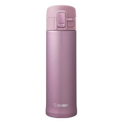 Zojirushi - Zojirushi Double Wall Stainless Steel 16-oz Mug, Lavender Pink - Beautiful Sleek designStainless steel vacuum insulation keeps beverages hot or cold for hoursDurable and sanitary 18/8 stainless steel interior with SlickSteel FinishSlickSteel Finish interior resists corrosion and repels stainsFlip-Open lid with safetly lock prevents the lid from opening accidentallyTight fitted lid keeps beverages hotter or colder than travel mugsCompact design takes minimal space whilemaximizing capacity