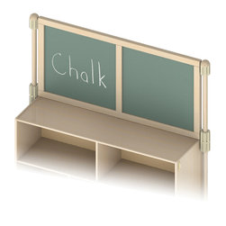 Jonti-Craft - Upper Deck Divider Chalkboard - Increase functionality of a Jonti-Craft storage unit and two matching KYDZ Suite hubs by adding the KYDZ Suite upper deck divider. Includes upper deck hubs, hardware and KYDZ Suite panel. Recommend pairing with KYDZ Suite stabilizer wings.