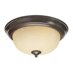 Trans Globe Lighting - Trans Globe Lighting 13513 ROB Flushmount In Rubbed Oil Bronze - Part Number: 13513 ROB