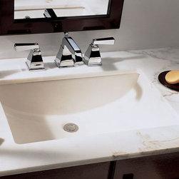 "TCS Home Supplies - Rectangular Biscuit Porcelain Ceramic Vanity Undermount Bathroom Vessel Sink - 2 - Undermount Bathroom Vessel Sink. Porcelain Ceramic. Rectangular Shaped. White or Biscuit Finish. Exterior Dimensions 20-3/4"" x 14-5/8"" x 6-3/4"". Interior Dimensions 18-1/2"" x 12-1/2"" x 6-3/4""."
