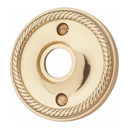 Renovators Supply - Door Knob Roses Bright Solid Brass Braided Passage Door Knob Rose | 99002 - Passage Doorknob Roses: Brass braided doorknob roses has our exclusive maintenance free RSF finish. They have a 2 1/2 in. outer diameter and a 5/8 in. inner diameter. These are designed for use on a door where a privacy pin is not needed. They can not be used with our dummy knob spindle (20152). Fits pre-drilled doors only. Sold in pairs- screws included.