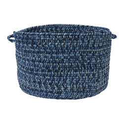 "Colonial Mills, Inc. - Catalina, Blue Wave Utility Basket, 18""X12"" - Got laundry? Knitting supplies? Loose magazines? This pretty blue braided storage basket will keep it all out of sight and within easy reach, and look casually chic doing it. Keeping house in style never looked so easy."