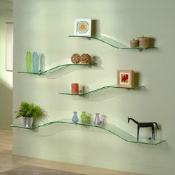 Glass Shelves - http://www.dullesglassandmirror.com/custom-glass-shelves.asp
