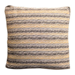 Lida Smoked Pillow - Surround yourself with endless design possibilities with our Lida Smoked Pillow.  Handcrafted perfection with an elegant twist to a simplistic work of art this throw is decor at its finest.