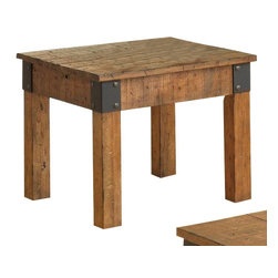 "Coaster - End Table (Rustic Oak) By Coaster - Add some country style to your room with this rustic end table, featuring a distressed wood look. Matching coffee table available separately. Dims: 26"" X 26"" X 22""."